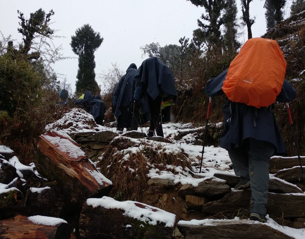 15 essentials you must have easy access to during a winter trek: Number 2 - Rain cover for backpack