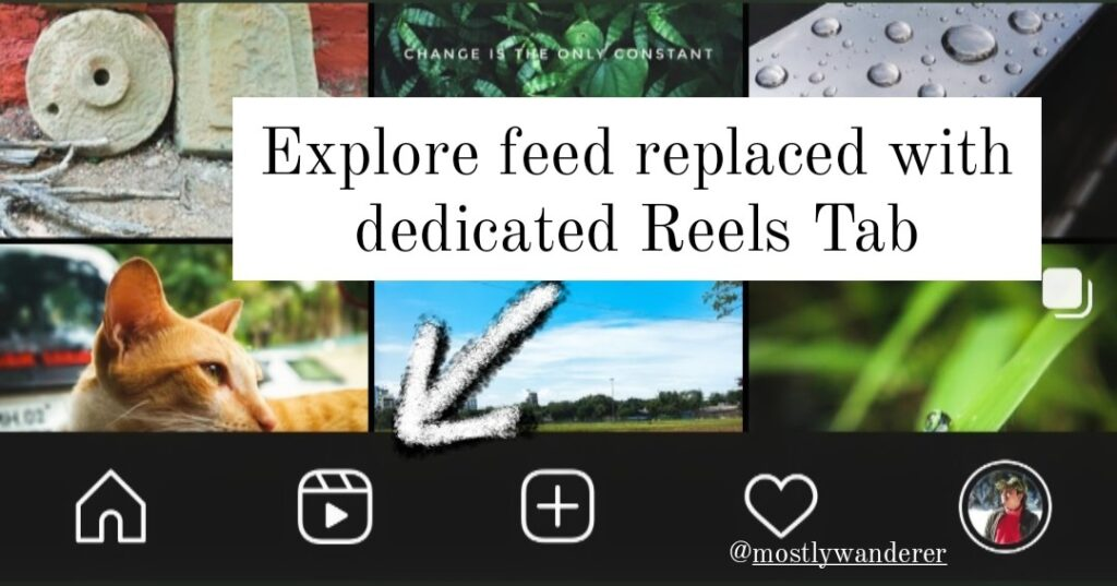 Instagram Explore feed replaced with dedicated Reels Tab
