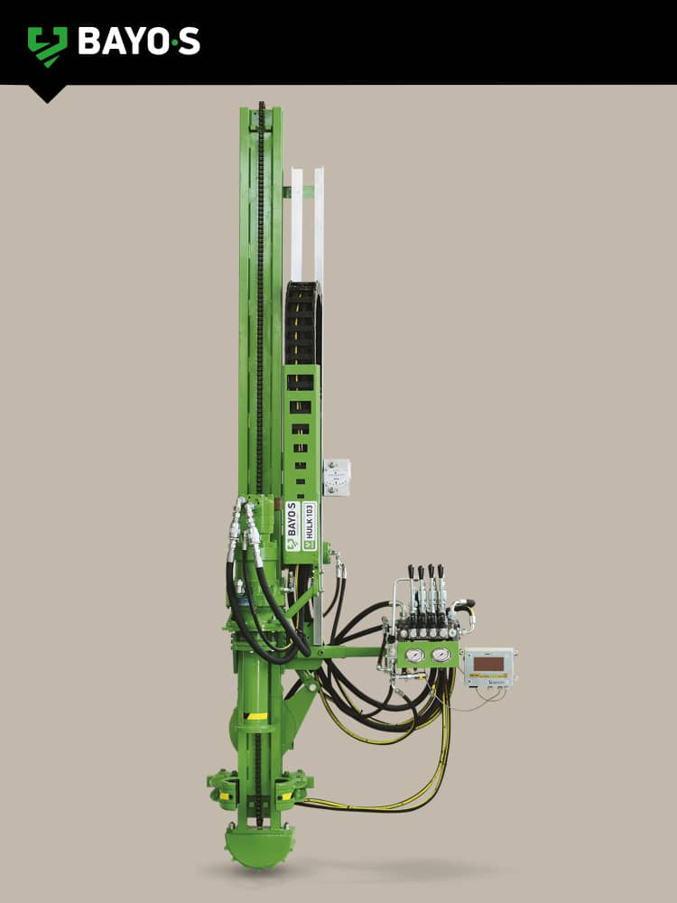 hydraulic ground screw drilling mast