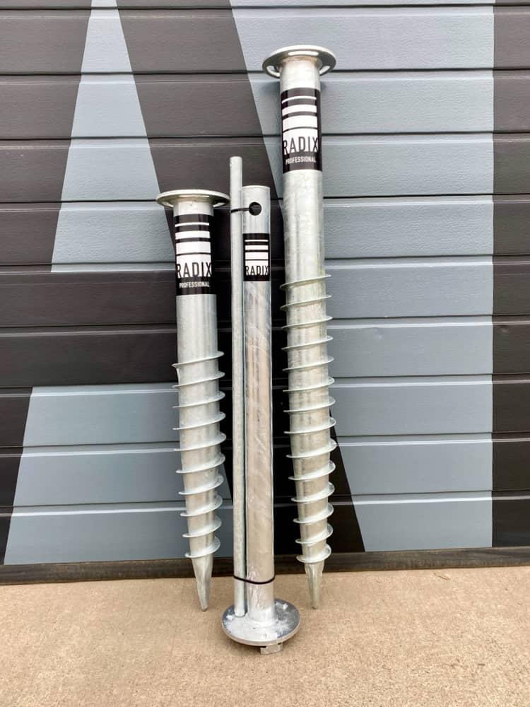 ground screw self-install tool