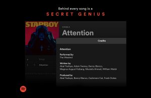 Spotify showing full songwriter credits on tracks