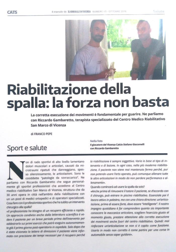 Centro San Marco Vicenza: Rassegna Stampa
