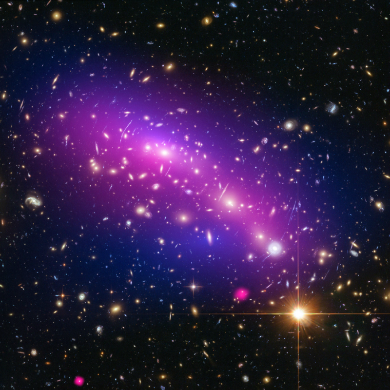 As its name suggests, dark matter is invisible; it does not emit, reflect or even block light.