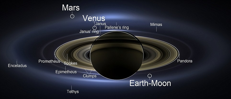 """The picture was taken by """"NASA'S CASSINI SPACECRAFT"""", which shows the view as it would be seen by human eyes."""