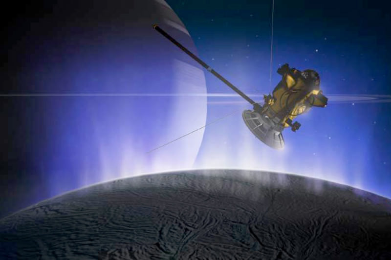 Cassini flew by plumes of Enceladus