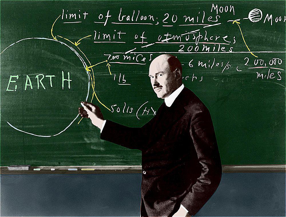 Goddard while teaching in Clark University