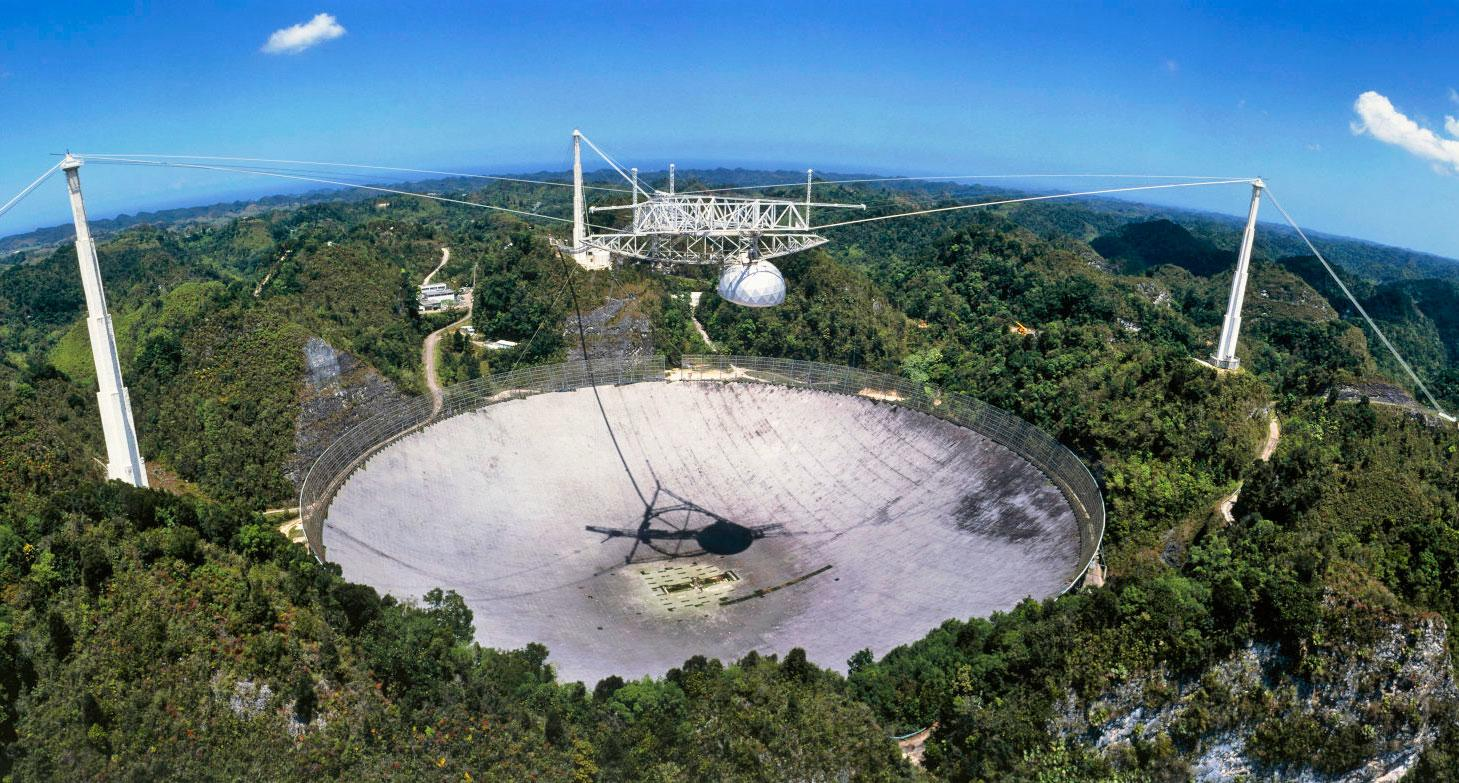 The Arecibo Radio Telescope in Puerto Rico was the site of NASA's High-Resolution Microwave Survey