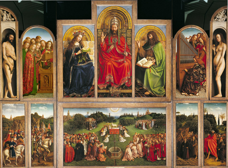 The Royal Institute for Cultural Heritage is using artificial intelligence for the Ghent Altarpiece preservation
