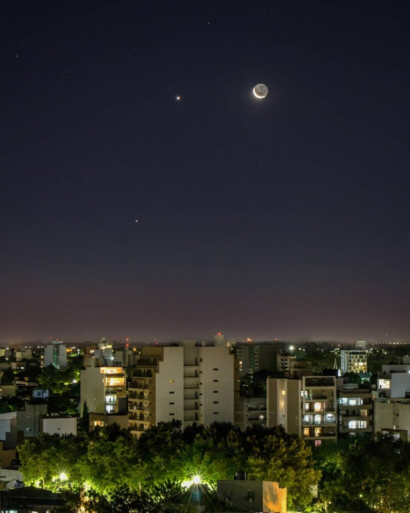 The conjunction in the skies of Buenos Aires, Argentina (Credit: coroo.arg)