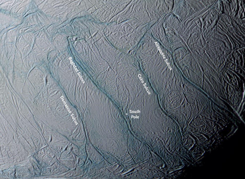 Enceladus Tiger stripes