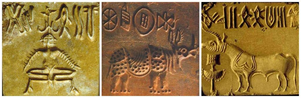 Seals recovered from the Indus Valley had images of animals