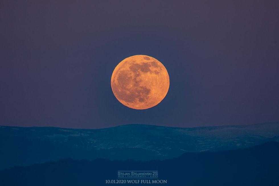 A beautiful image of the moon captured in Kuratica, Macedonia. (Image credit: StojanStojanovski)