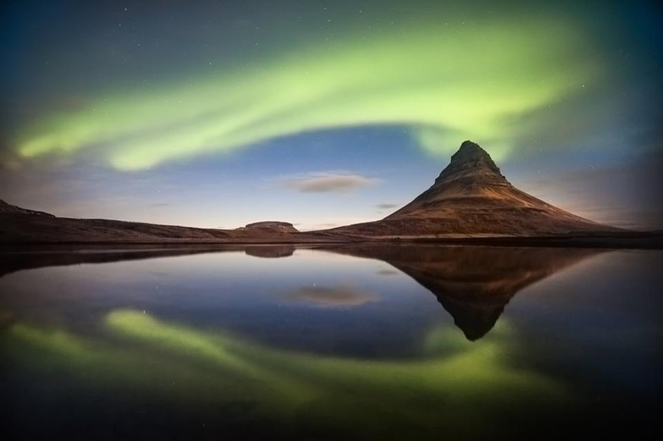 """This Northern Lights picture is the Grand Jury Winner titled """"Eruption of the Light"""". The image was taken by Petersvoboda."""