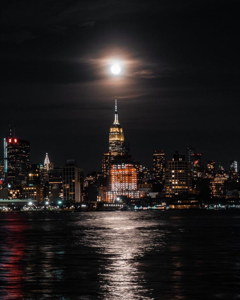 New Yorkers were treated on 9th March with a supermoon, seen here above the Empire State Building