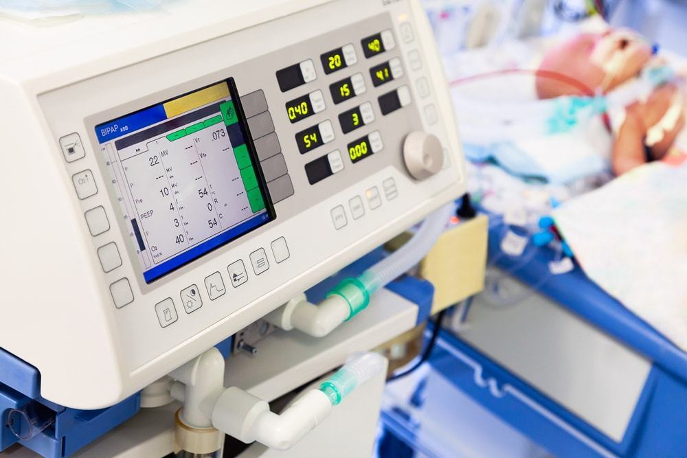 Ventilators are not a piece of medical equipment to be found in abundance in hospitals, as the statistics show.  Image credit: beerkoff/Shutterstock.com