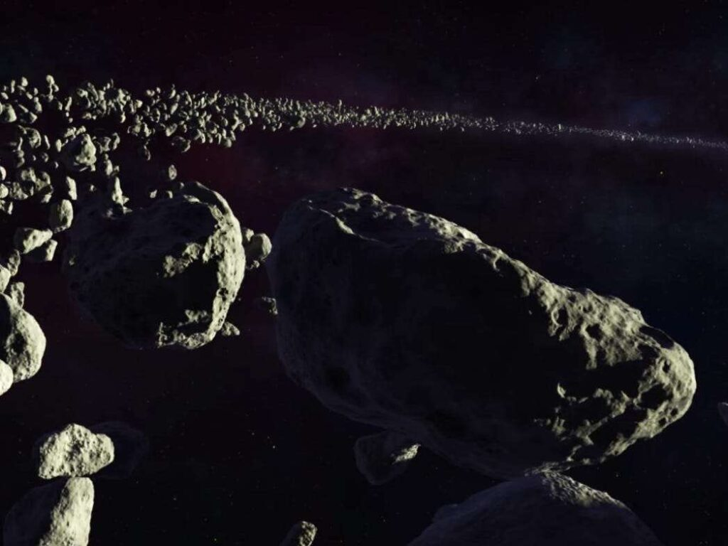 The rocky bodies present in our solar system are called Asteroids