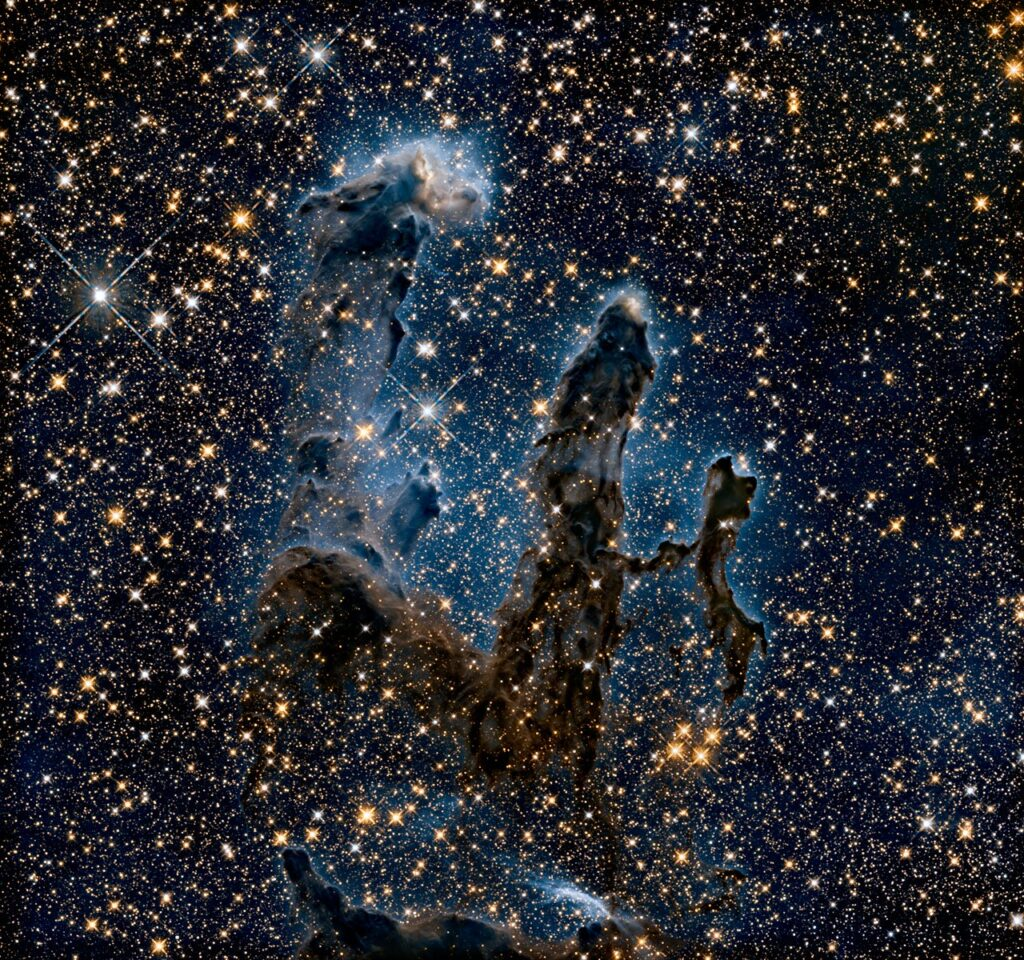 NASA released a new image of the Pillars of Creation.
