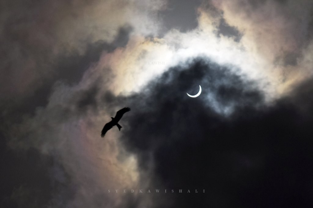 Solar Eclipse as seen from Madyan Swat Khyber Pukhtoonkhowa. Credit: Imran_ullah_Miraj