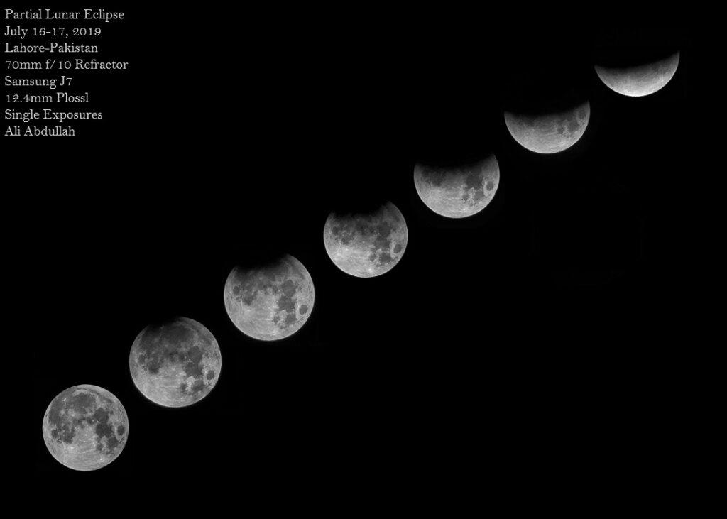 Partial Lunar Eclipse by Ali Abdullah