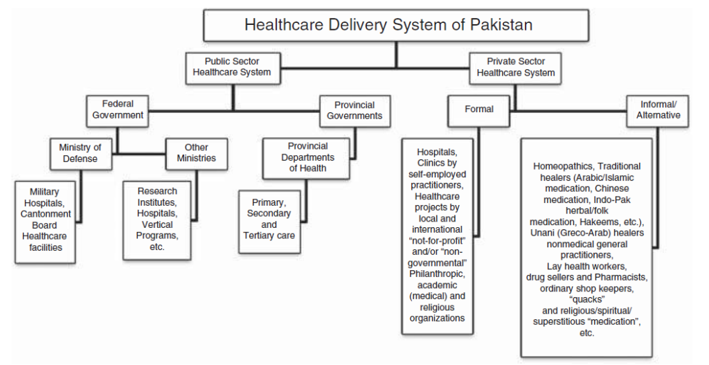 Healthcare delivery system in Pakistan