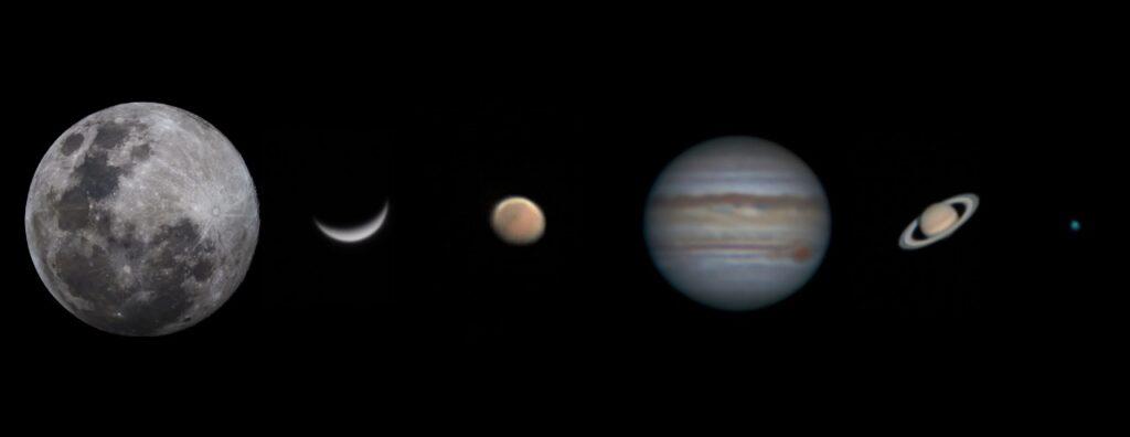 Solar System Collage  by Imran Rashid