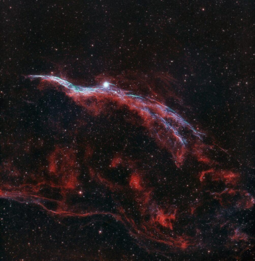 Western Veil Nebula by Shoaib Usman Banday