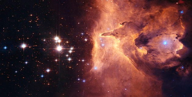 Close inspection of images taken with the Hubble Space Telescope shows that Pismis 24-1 derives its brilliant luminosity not from a single star but from three at least. Component stars would still remain near 100 solar masses, making them among the more massive stars currently on record. Picture Courtesy: Davide De Martin (ESA/Hubble)