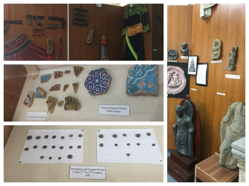 The museum at TIAC features different statues, writings, dresses, pottery and coins etc. Archaeology