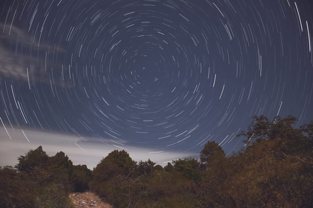Star trails around the north star captured in Islamabad by Hanzila Mubashar