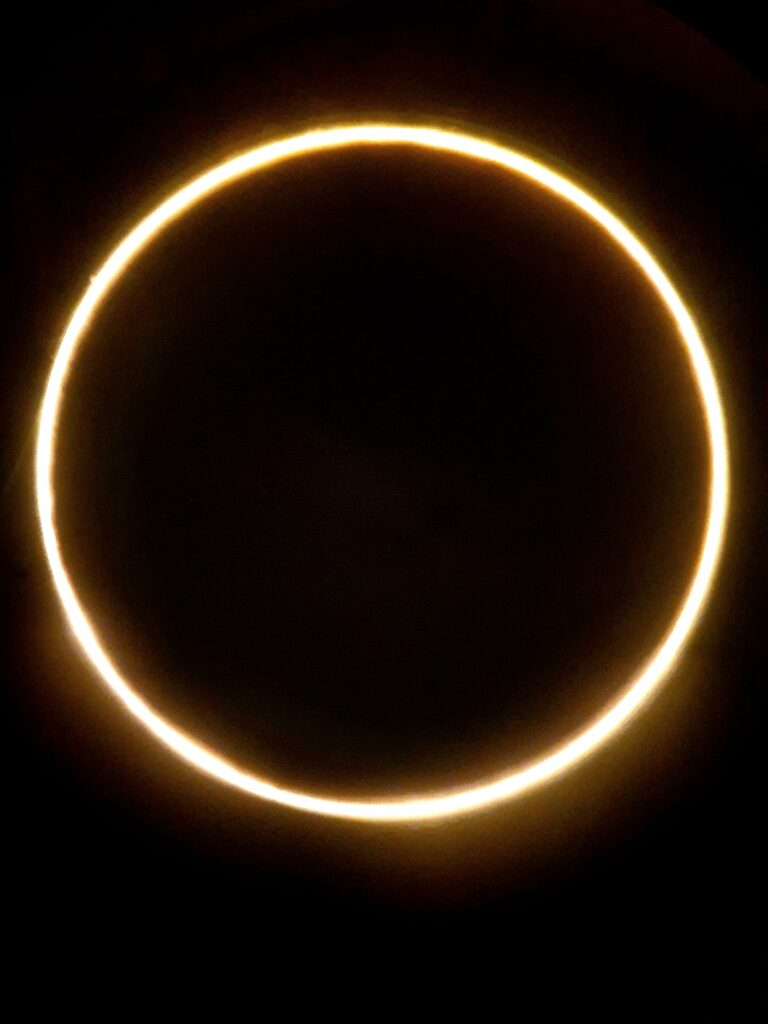 A rare sight! Annular solar eclipse ring captured by Muhammad Mehdi Hussain