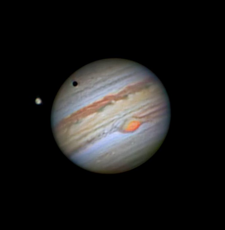 Jupiter and its Moon Ganymede by Shoaib Usman Banday 2020