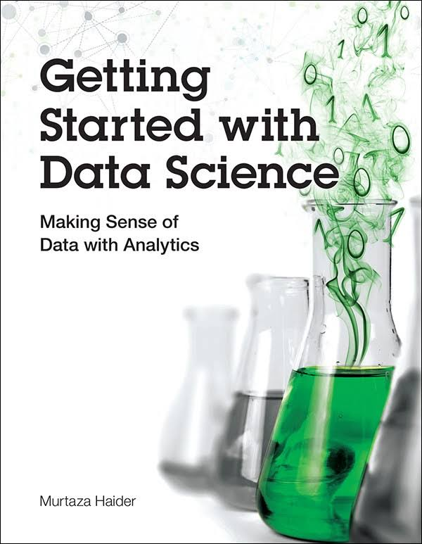 book cover getting started with data science