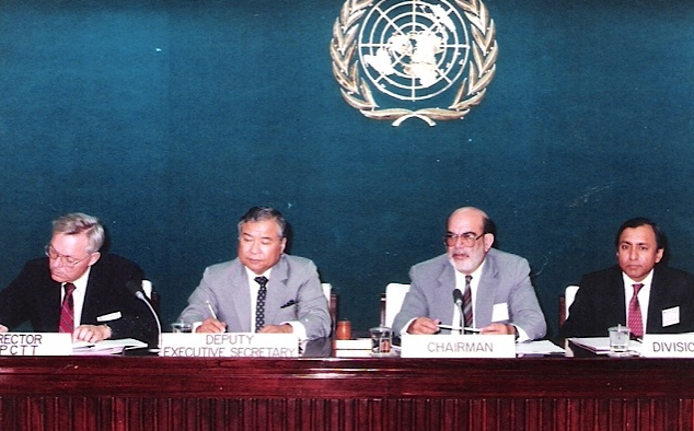 Tariq Mustafa presiding over the meeting of the Board of Governors of the Asian Pacific centre for Technology Transfer (APCTT) at Bangkok- circa 1992 - Space