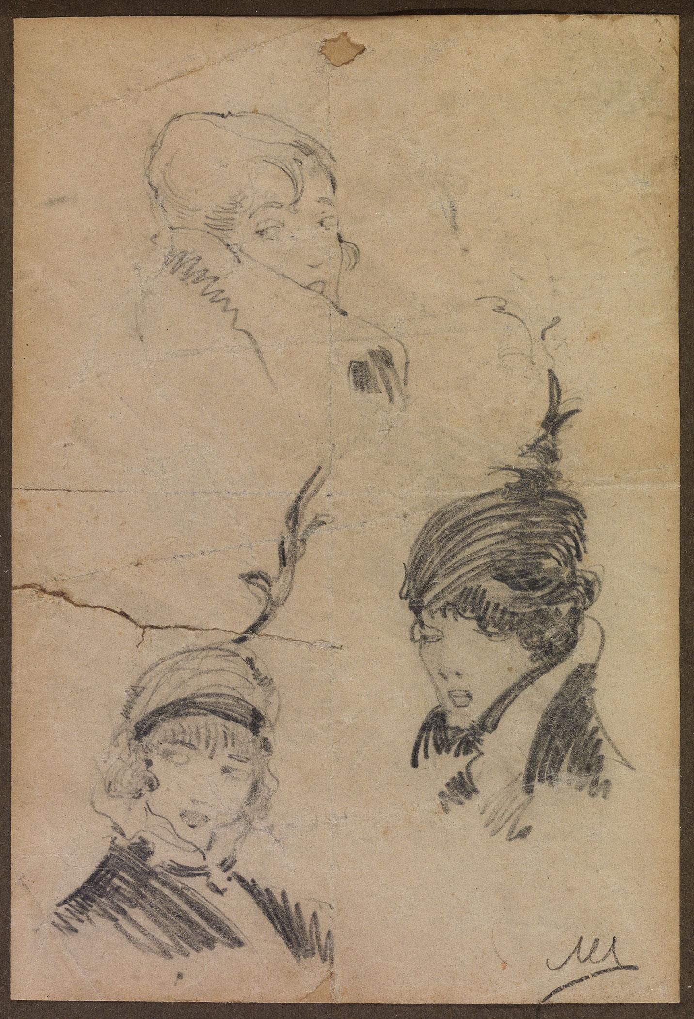 Nikolaos Lytras - Three female heads