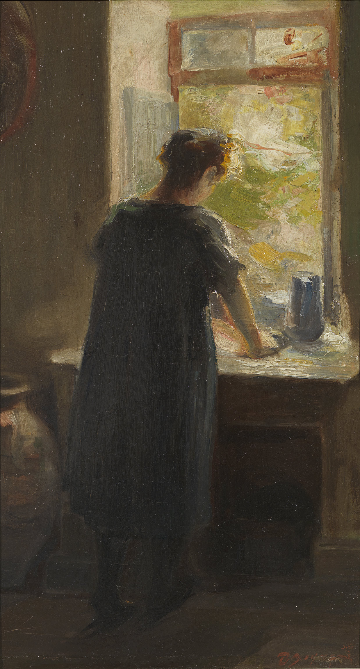 Theodoros Lazaris - Girl at the window