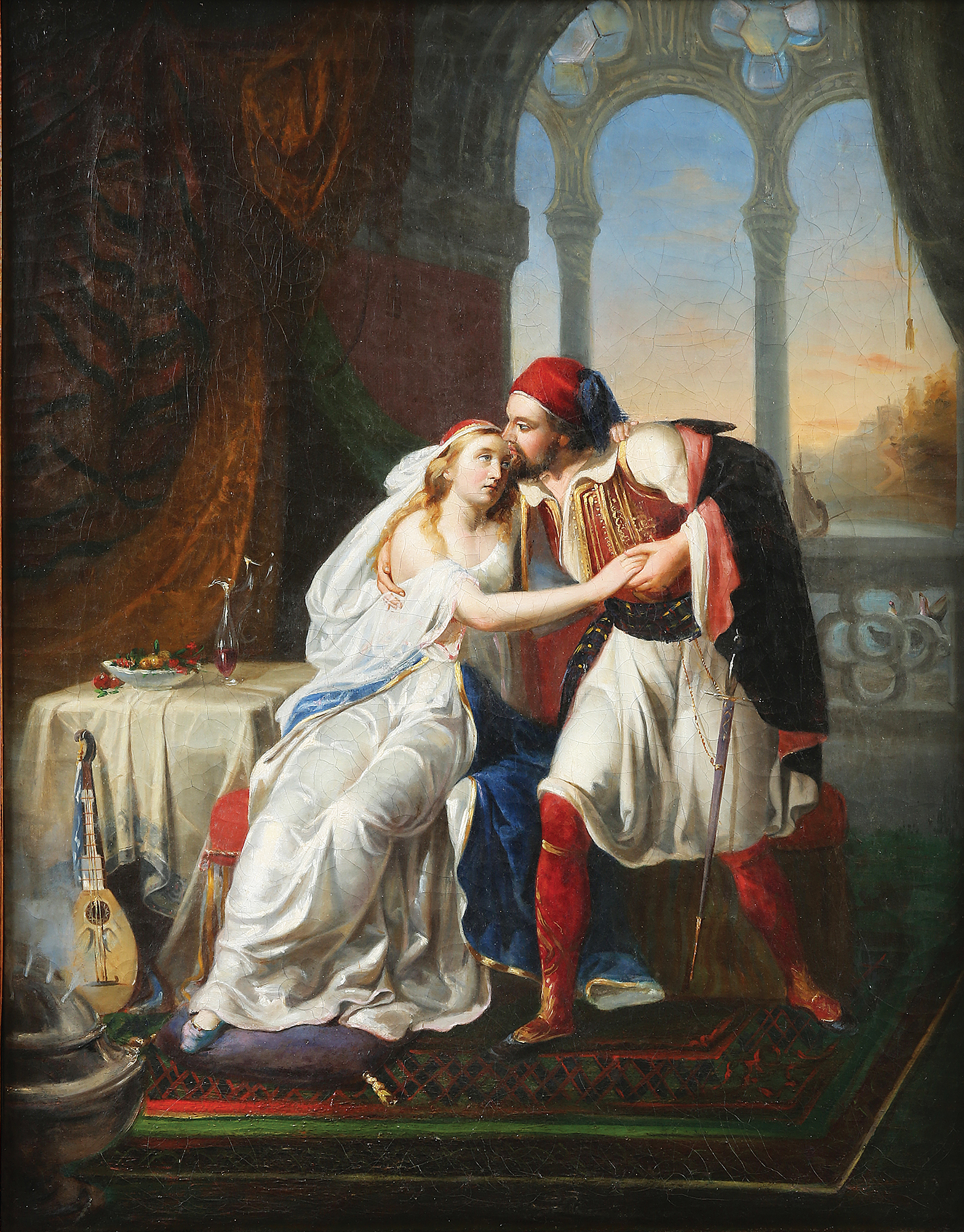 Francesco Hayez (school of) - Farewell of a Greek warrior and his beloved