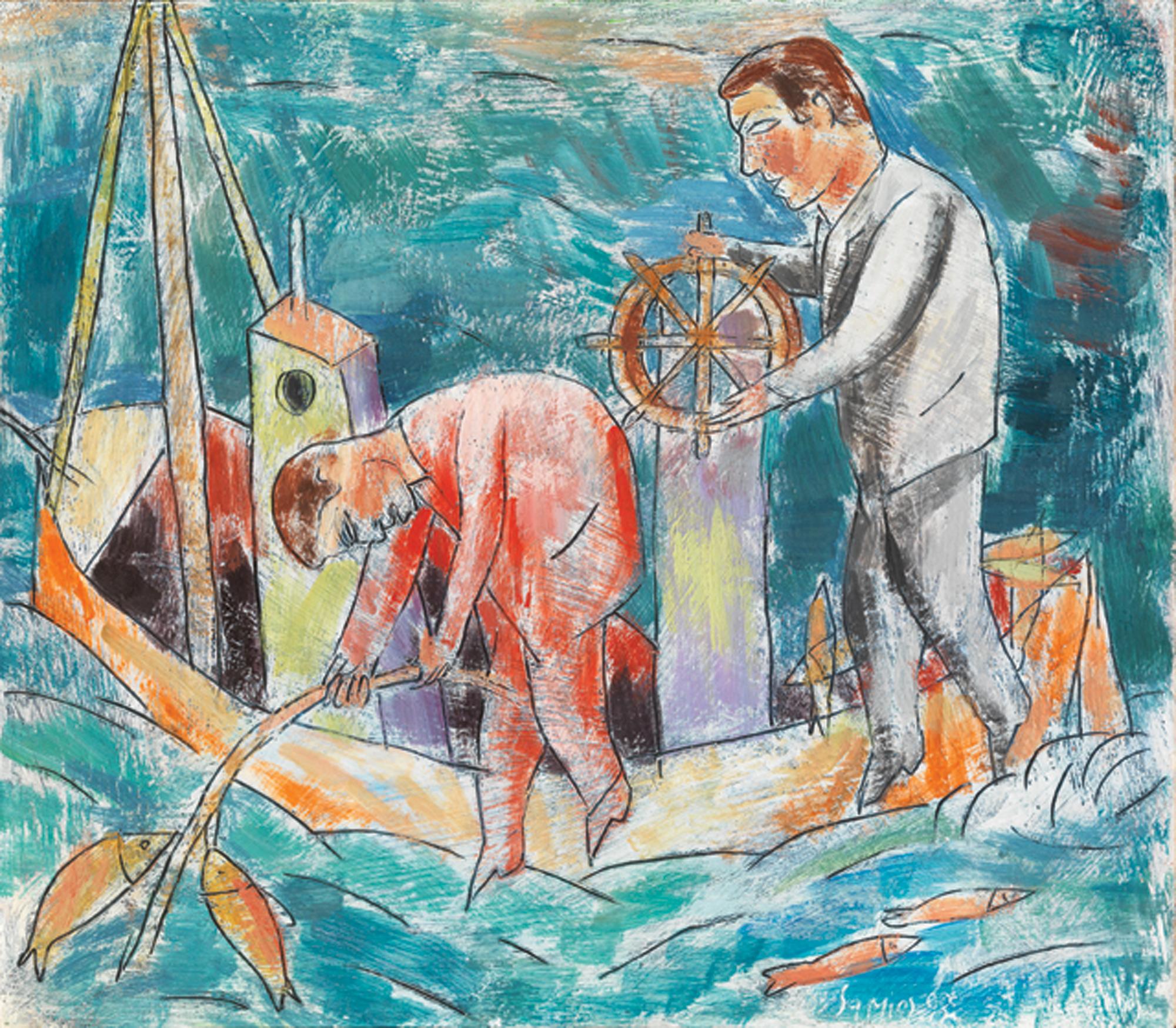 Pavlos Samios - Fishermen in a boat