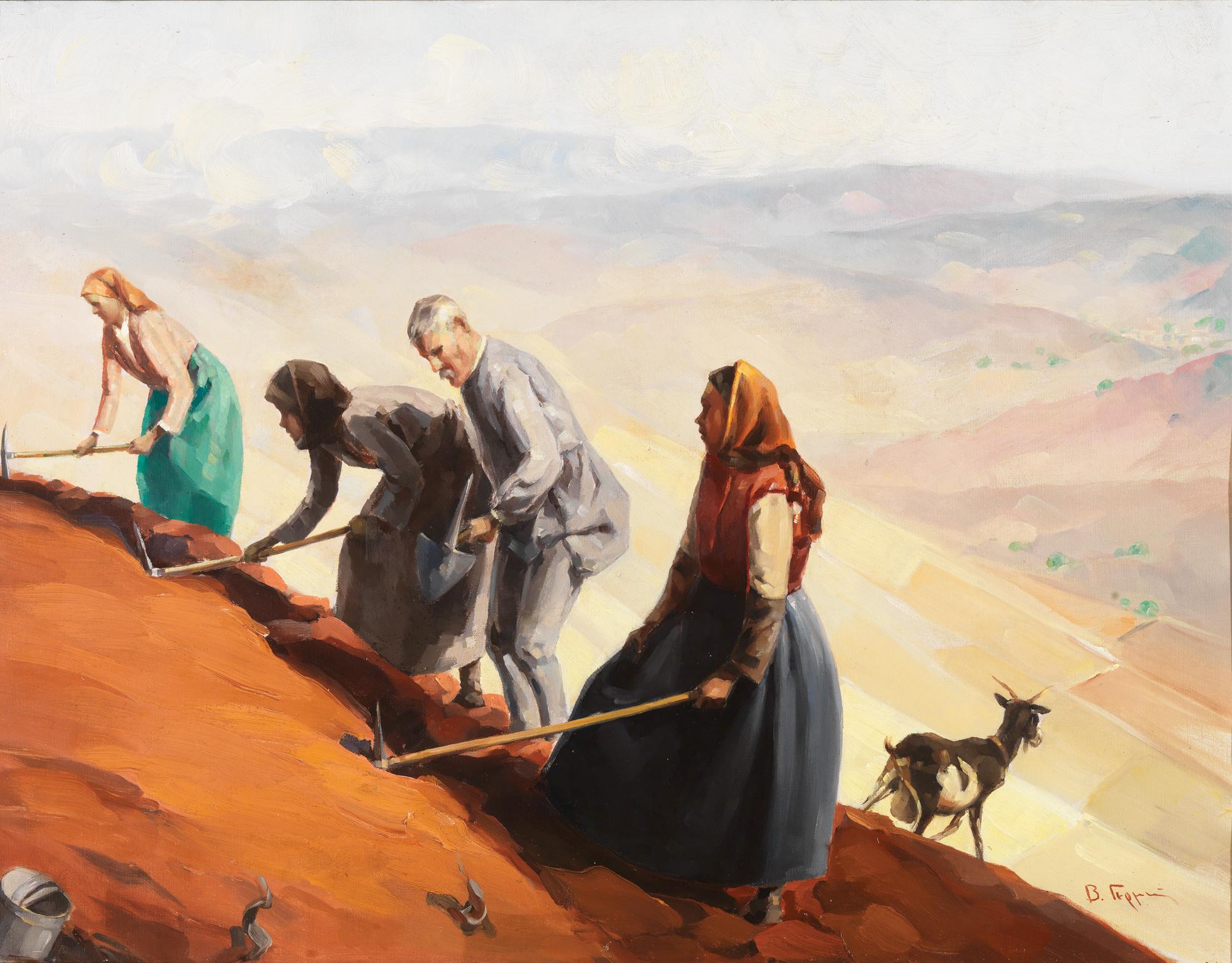 Vassilios Germenis - Peasants digging