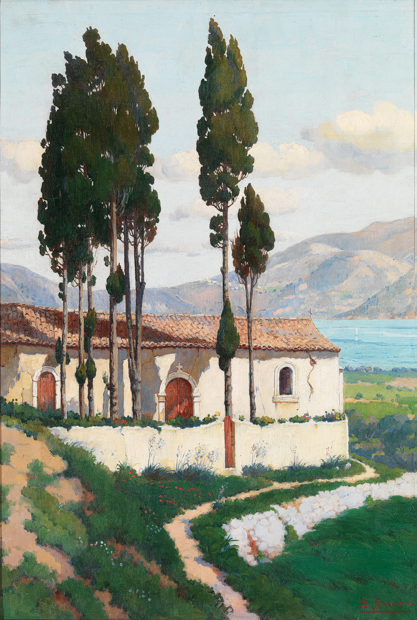 Vassilis Ithakisios - Church in a mountain landscape