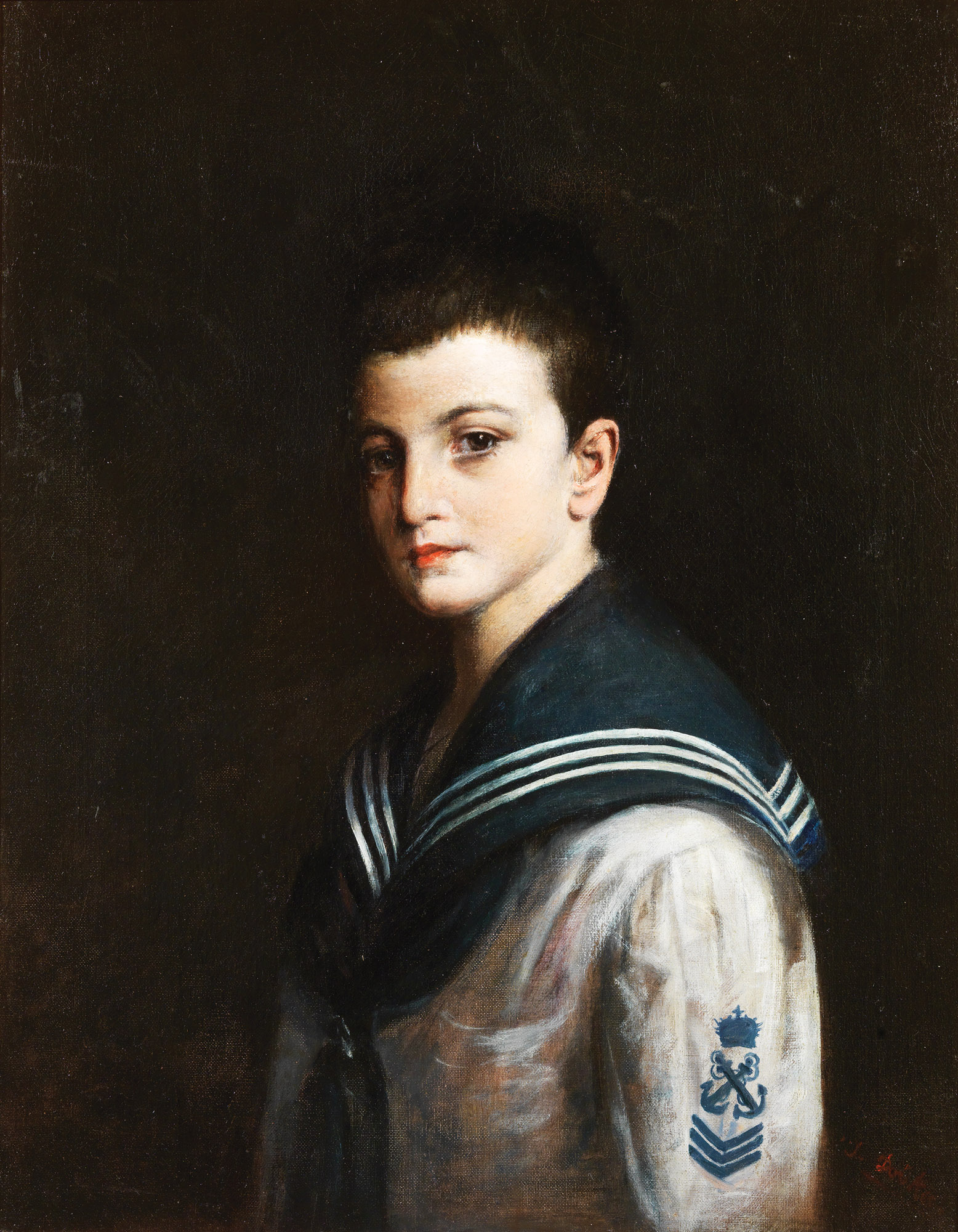Ioannis Doukas - Portrait of Konstantin Caratheodory at a young age