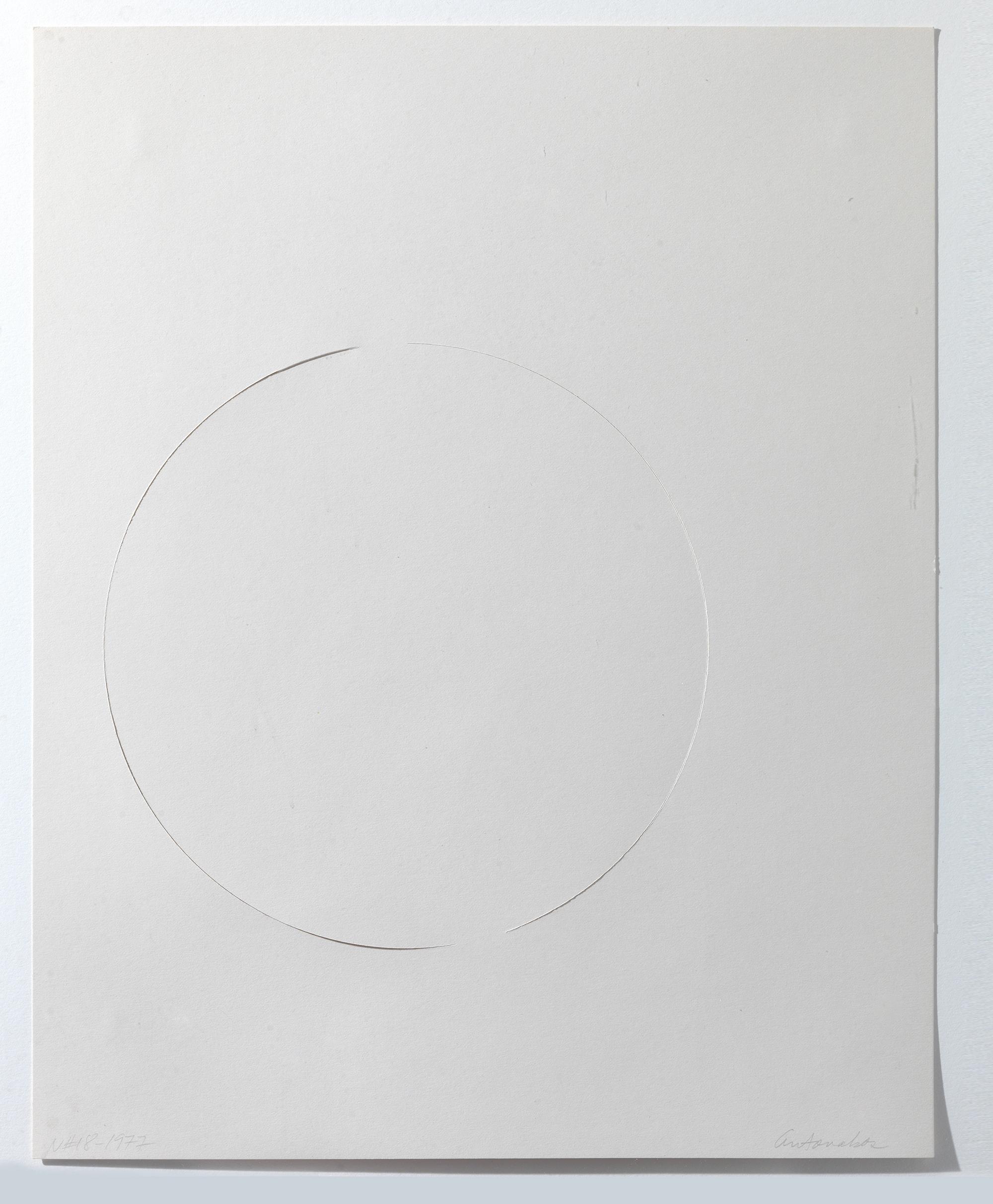 Stephen Antonakos - Untitled collage (N#18)