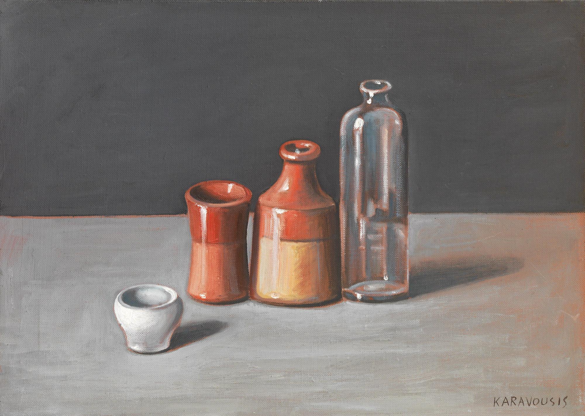 Sarandis Karavouzis - Still life with vases