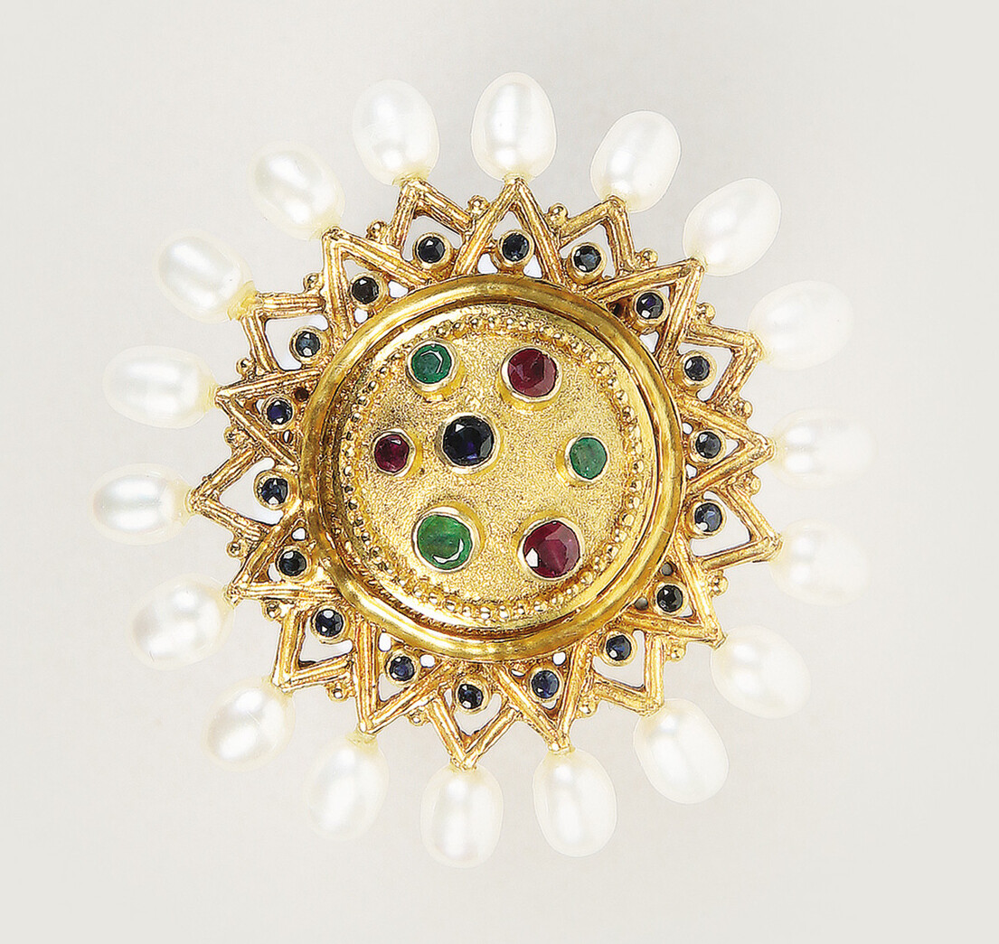 Ilias LALAOUNIS - Grecian shield brooch