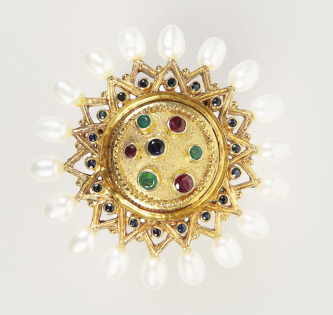 Ilias LALAOUNIS - Grecian shield brooch