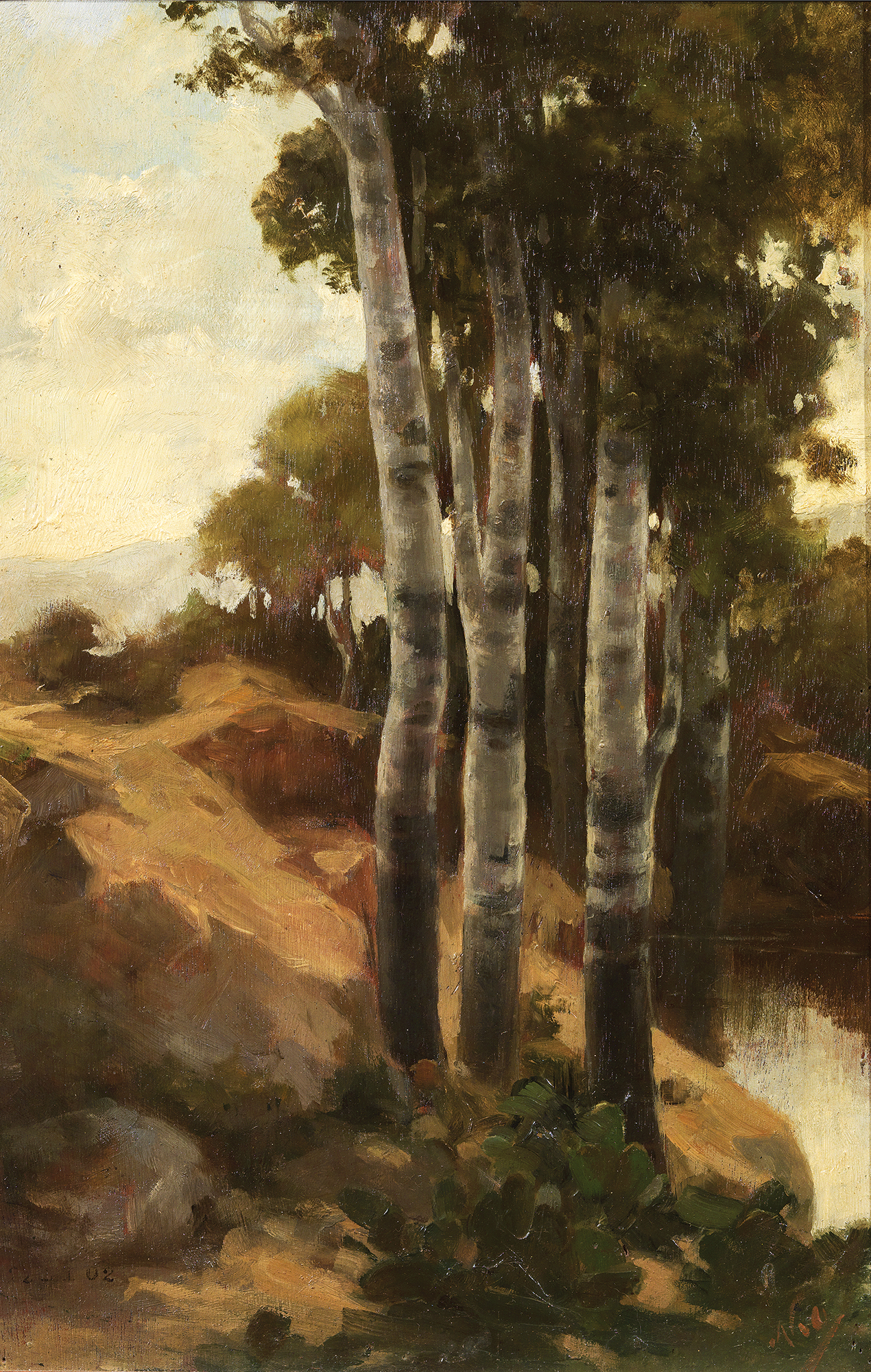 Nikolaos Othoneos - Trees by the river