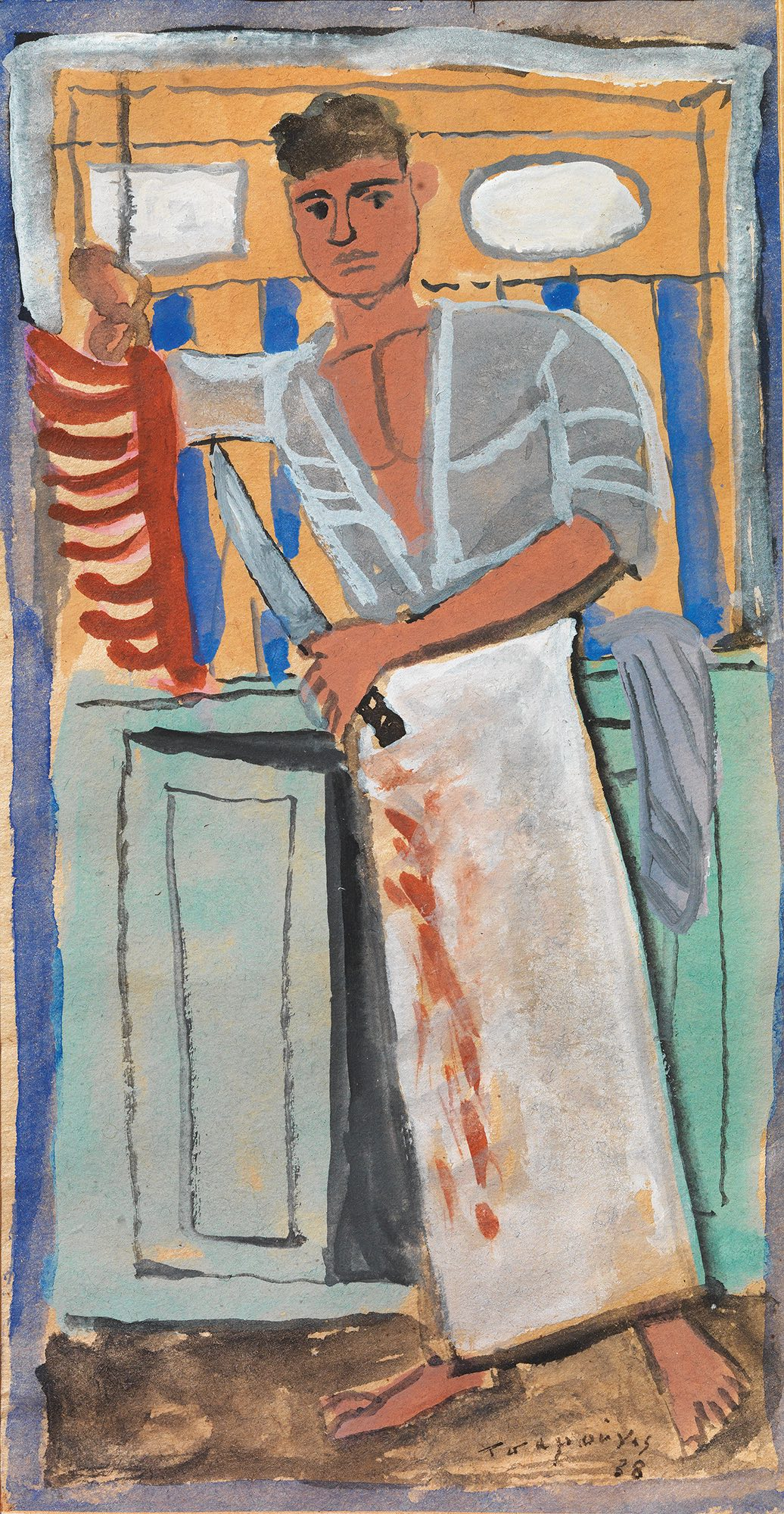 Yiannis Tsarouchis   The young butcher