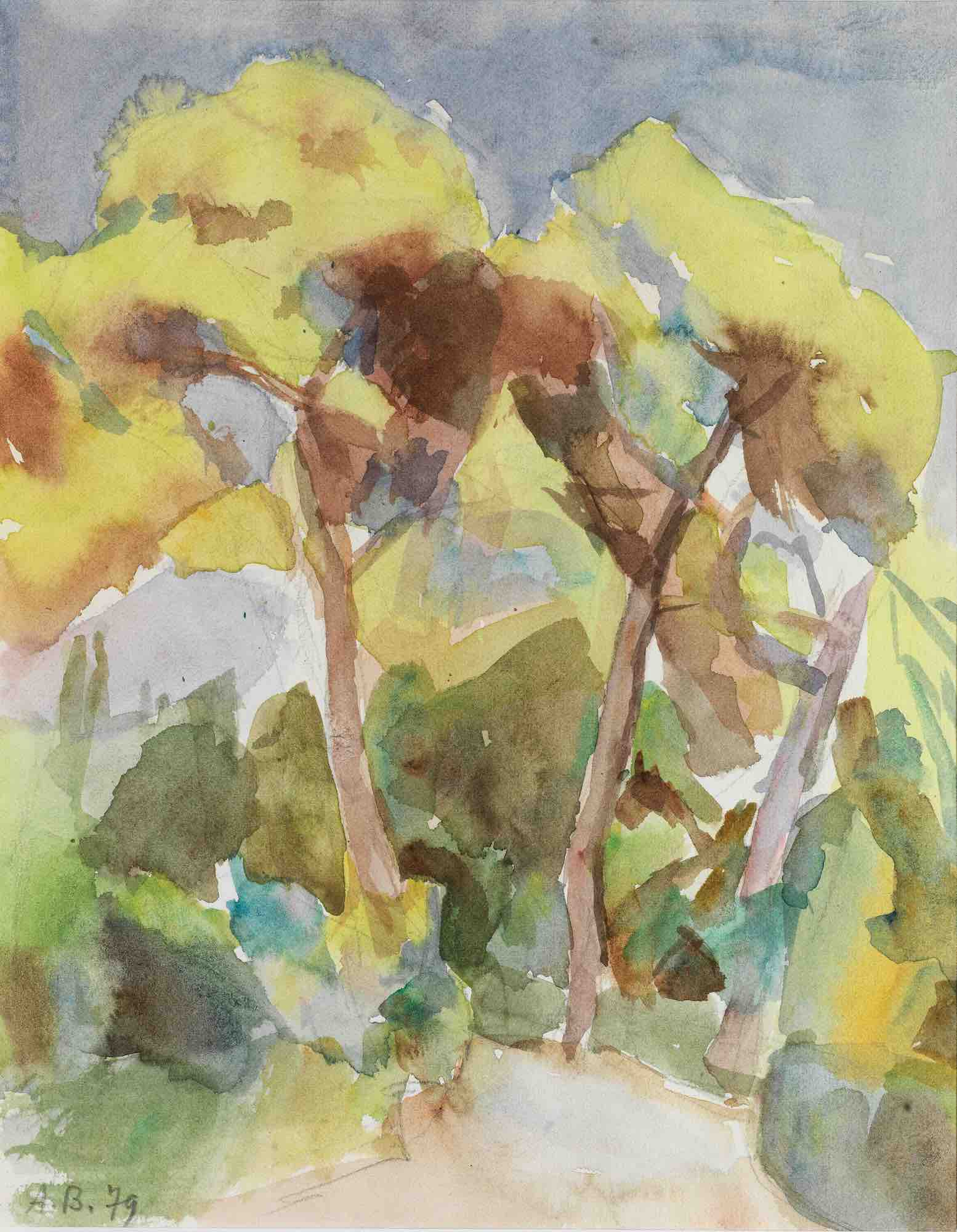 Andreas Vourloumis   Landscape with Pine trees I