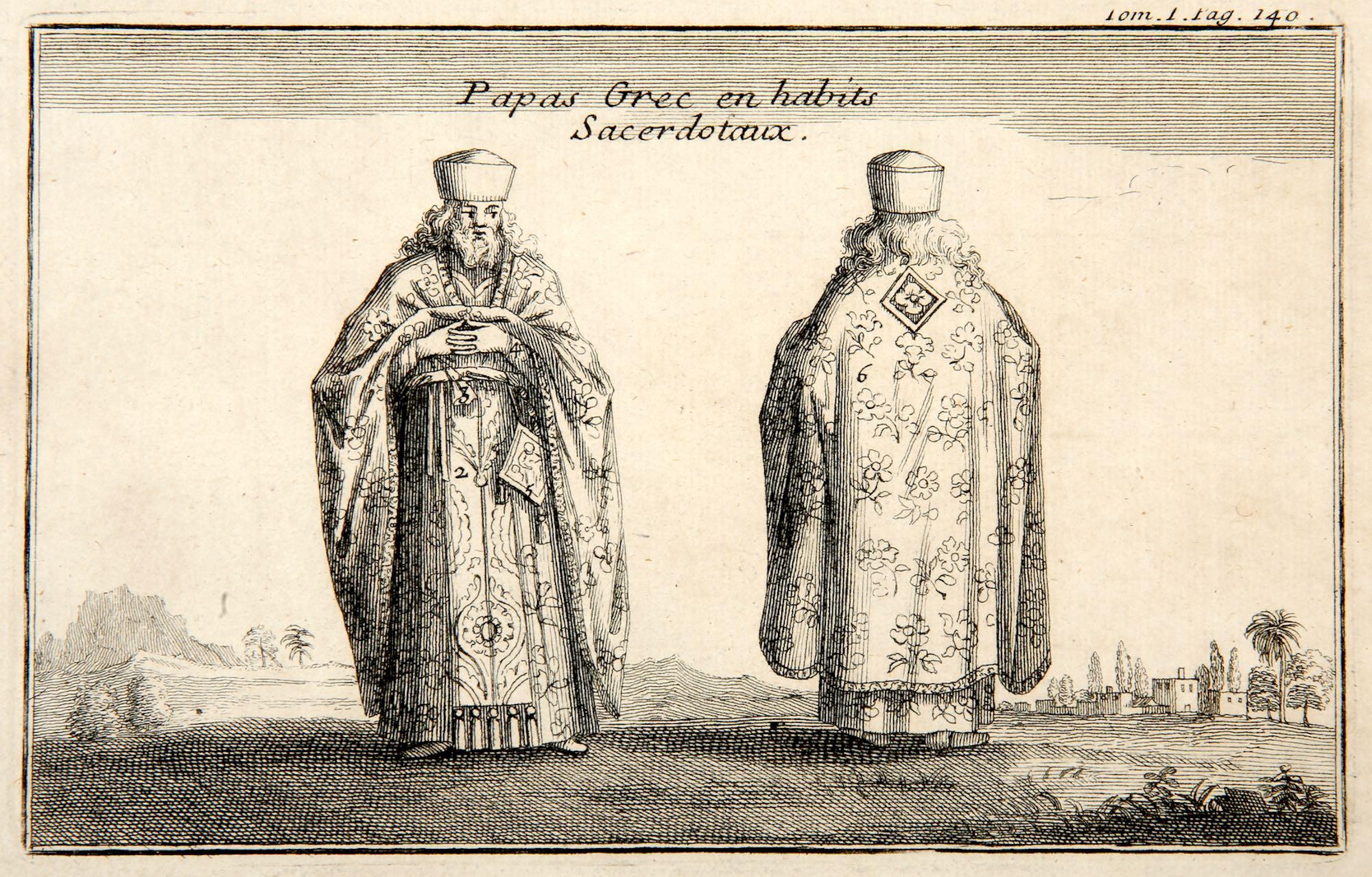 Joseph Pitton de Tournefort   Papas Grec en habits Sacerdotoux
