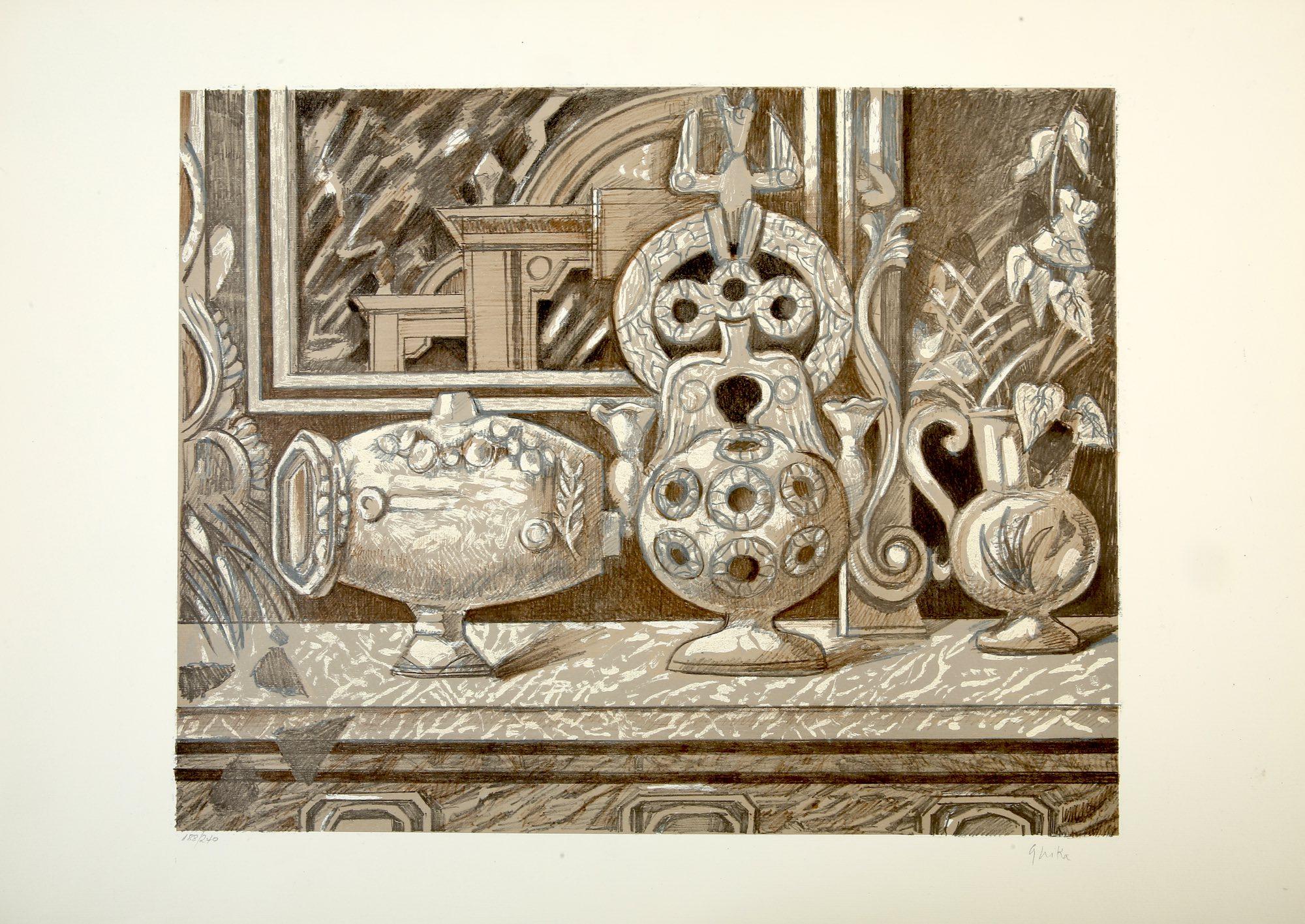 Nikos Hadjikyriakos-Ghika   Still life with Çanakkale pottery