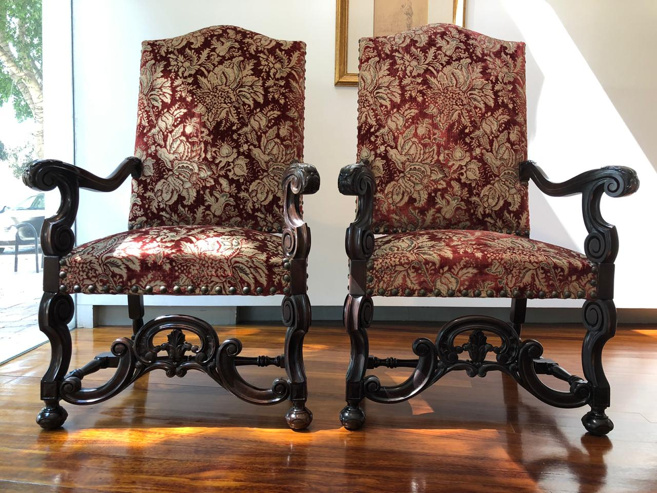 Pair of Throne Chairs   19th Century